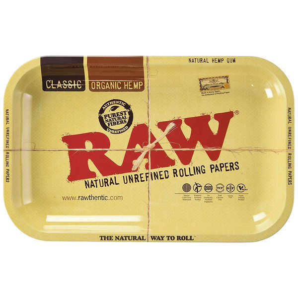 "Raw Aluminum High Sided Rolling Tray | 11"" x 7"" 