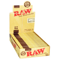 Raw Classic Rolling Papers - 1 1/4 Inch Size