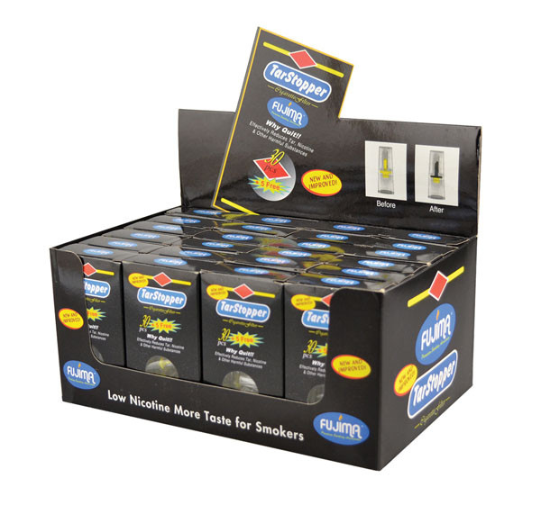 Fujima Tar Stopper Cigarette Filters - 30pc Display