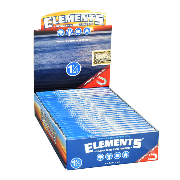 Elements Ultra Rice Rolling Papers - 1 1/4 Inch