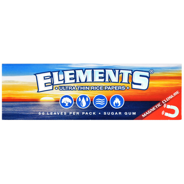 Elements Ultra Rice Rolling Papers Booklet - 1 1/4 Inch