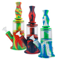 4 in 1 Silicone Water Pipe - 10"