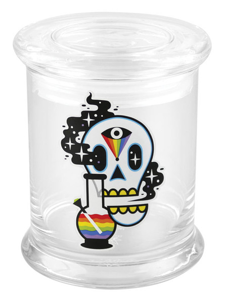 "420 Science Cosmic Skull Pop Top Jar - 4.5"" / Large"
