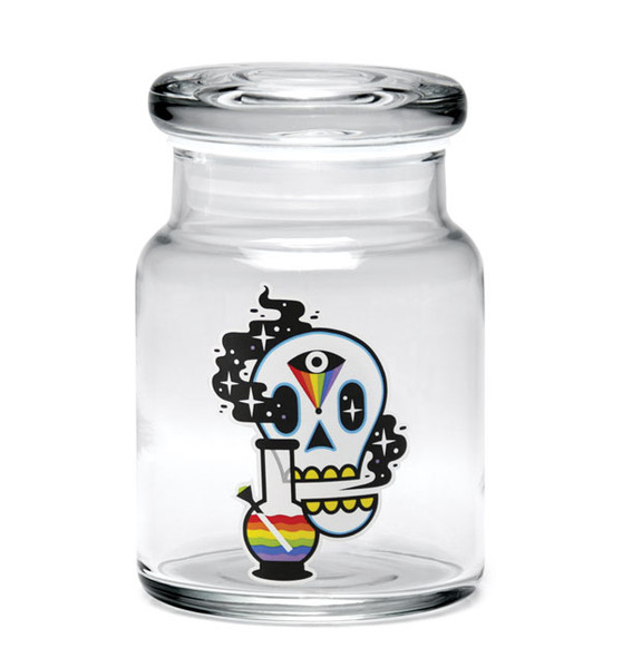 "420 Science Cosmic Skull Pop Top Jar - 3.75"" / Small"