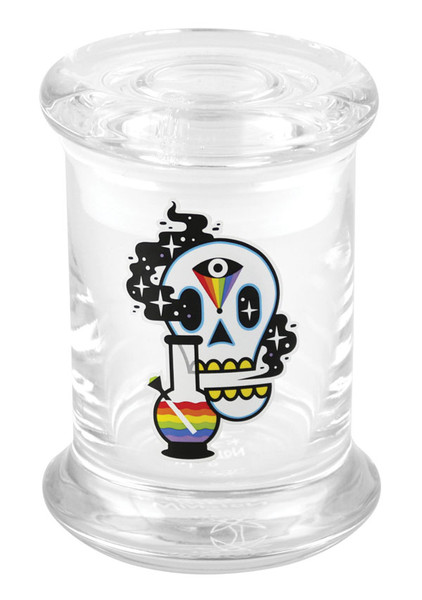 "420 Science Cosmic Skull Pop Top Jar - 3.25"" / X-Small"