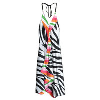 "Silk Halter Top Dress - 48"" / Assorted Colors / Designs"