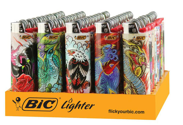 50pc display bic lighter vintage tattoo designs. Black Bedroom Furniture Sets. Home Design Ideas
