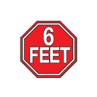 6 Feet Stop Sign Enamel Pin | Wholesale Distributor