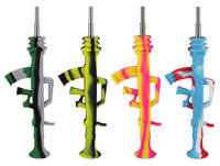 "AK47 Dab Straw - Silicone / 9.5"" / Asst Colors - AFG Distribution"
