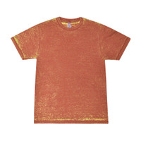 Acid Wash Short Sleeve T-shirt | Red Rust | Wholesale