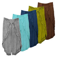 Acidwash Wrap Style Pants - 37"