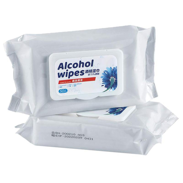 Alcohol Wipes 50pc Pack | Wholesale Distributor