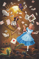 "Alice In Wonderland Stairway Poster - 24""x36"""