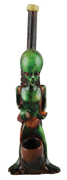 "Alien Medium Hand Pipe - 7"" - Assorted Styles"
