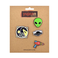 Alien Supporter Jumbo Enamel Lapel Pin Pack | Wholesale Distributor