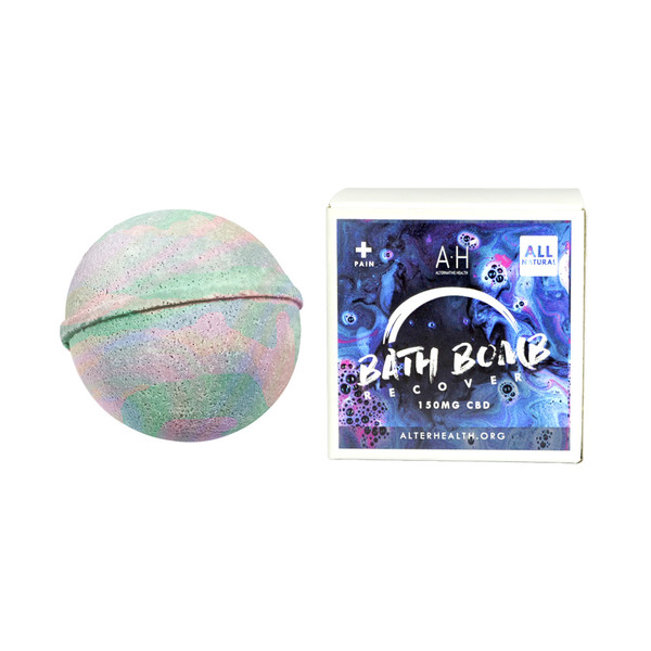 Alternative Health CBD Bath Bomb - 150mg | Pain Recover