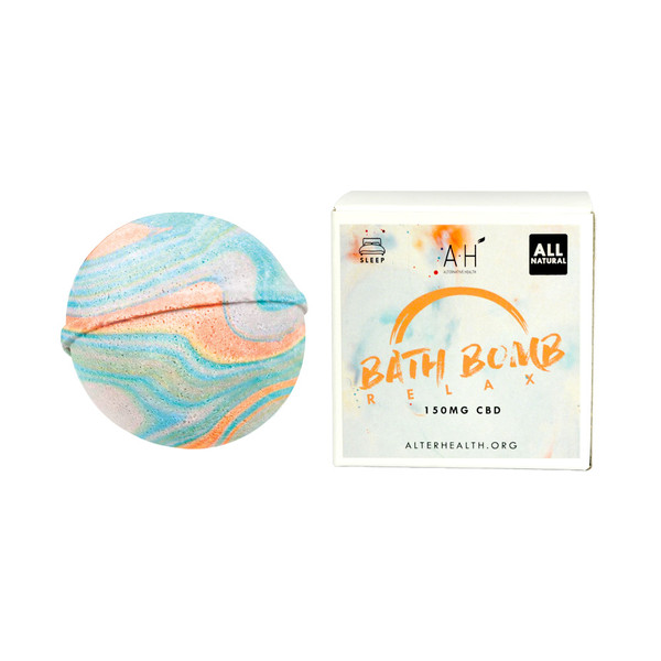 Alternative Health CBD Bath Bomb - 150mg | Sleep Relax