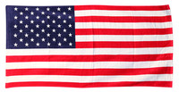 American Flag Beach Towel - 58x28 Inches - AFG Distribution