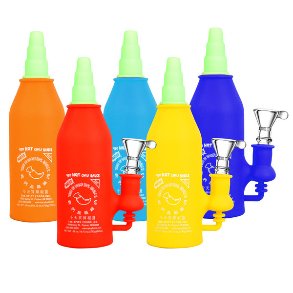 Asian Hot Sauce Silicone Water Pipe | Wholesale Distributor