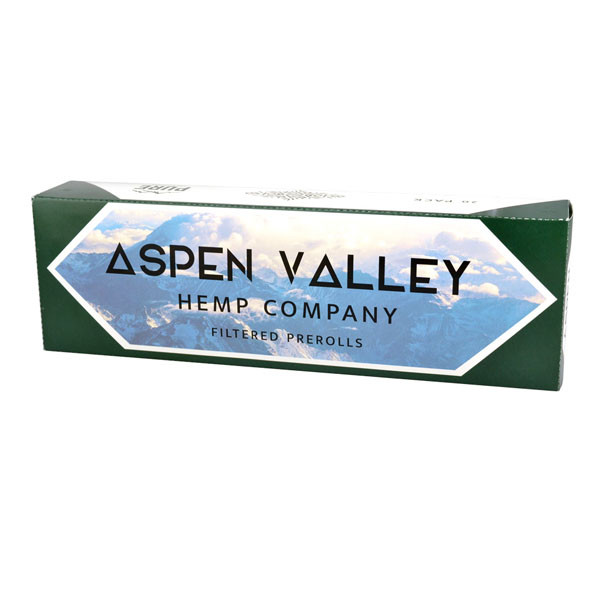 Aspen Valley CBD Unfiltered Hemp Pre-rolls | Carton