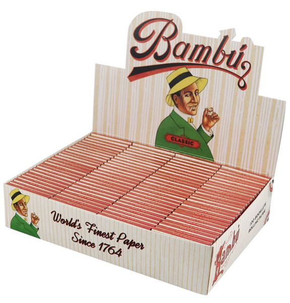 Bambu Classic Rolling Papers - Regular - 100pc Display - AFG