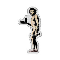 Banksy Graffiti Fast Food Caveman Sticker | Wholesale