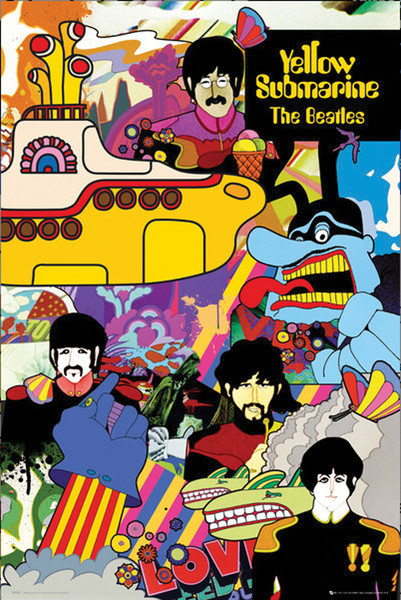 Beatles Yellow Submarine Poster - 24x36 - AFG Distribution
