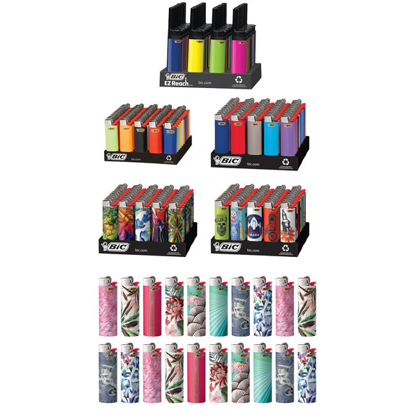 Bic Lighter 4 Tier Refill + 20 Free Lighters - 200pc