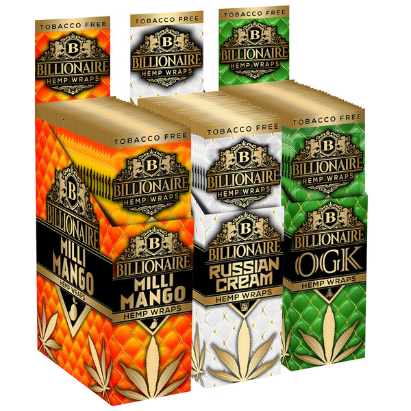 Billionaire Hemp Wraps | Multi Flavors | Wholesale Distributor