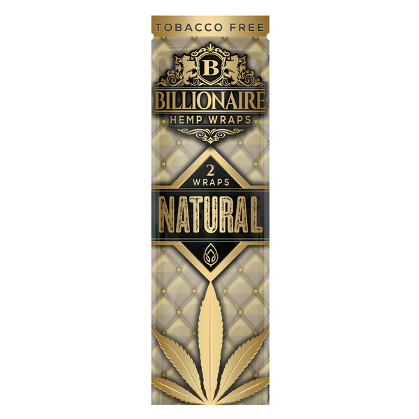Billionaire Hemp Wraps | Natural | Wholesale Distributor