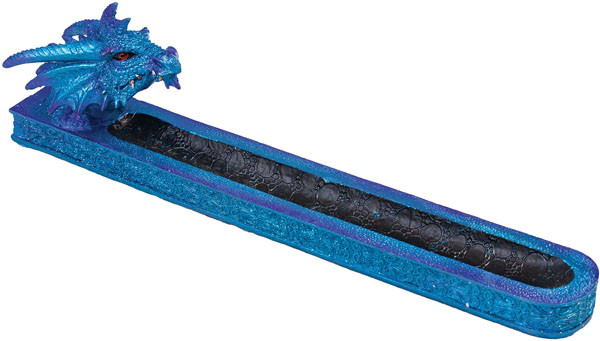 Blue Dragon Incense Burner - Polyresin | 12""