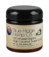 Blue Ridge Hemp CBD Scrub - Coconut & Sugar - 4oz / 100mg