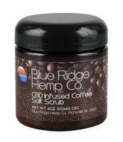 Blue Ridge Hemp CBD Scrub - Coffee & Salt - 4oz / 100mg