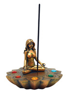 Bronze Chakra Stones Incense Burner - Polyresin / 4""