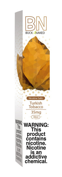 Buck Naked Nic Salt Eliquid - 30ml / 35mg / Turkish Tobacco