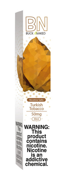 Buck Naked Nic Salt Eliquid - 30ml / 50mg / Turkish Tobacco