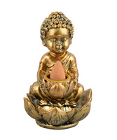 Buddha Backflow Incense Burner - 4""