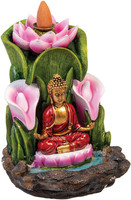 Buddha Lotus Backflow Incense Burner - Polyresin | 5.5""