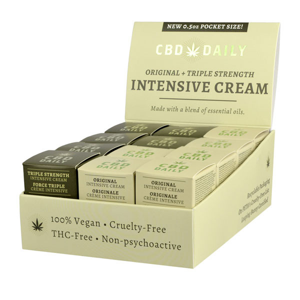 CBD Daily Intensive Cream - 0.5oz | 24pc Display