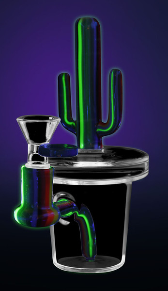 Cactus UV Waterpipe - 6 / 14mm F / Asst Colors - AFG Distribution