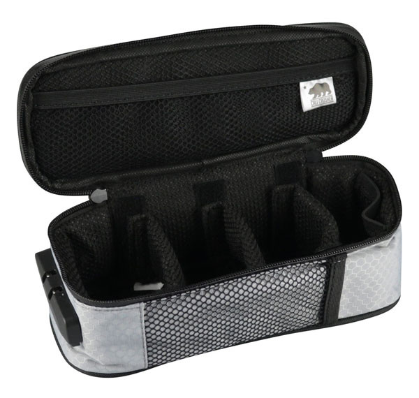Cali Crusher Locking Soft Case - 9.5x4x3.5 Inches / Gray - AFG Dist