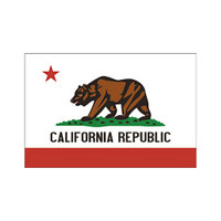 California Republic Flag Sticker | Wholesale Distributor