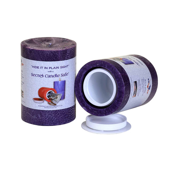 Candle Security Container | Purple | Wholesale Distributor