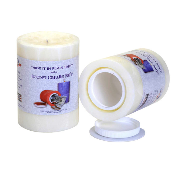 Candle Security Container | White | Wholesale Distributor