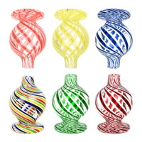 Candy Swirl Worked Glass Bubble Carb Cap | Wholesale