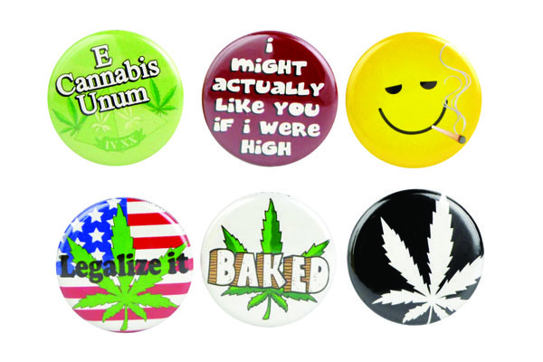 Cannabis Buttons - 1"