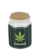"Cannabis Leaf Ceramic Jar - 3"" / Small"