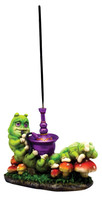 Caterpillar Standing Incense Burner - Polyresin / 4""