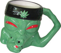 Ceramic Alien Shape Mug Pipe - 8oz