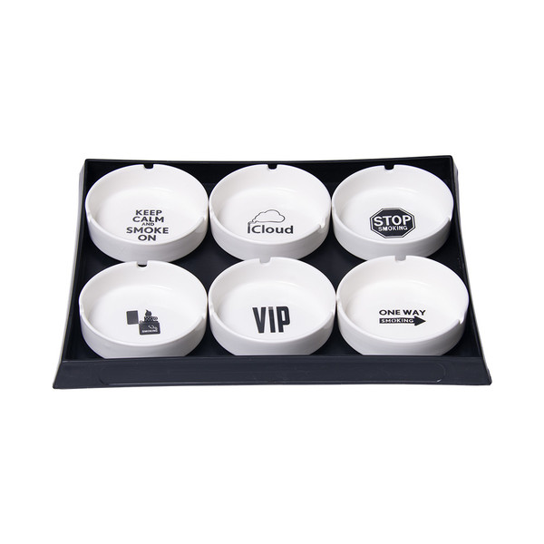 Ceramic Ashtray | Assorted Smoking Designs | Wholesale Distributor